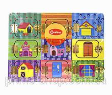 Деревянный Бизиборд Веселые двери игрушка для развития