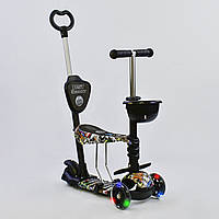 "Самокат Best Scooter 5 в 1 ""Абстракция"" 43700 подсветка колес"