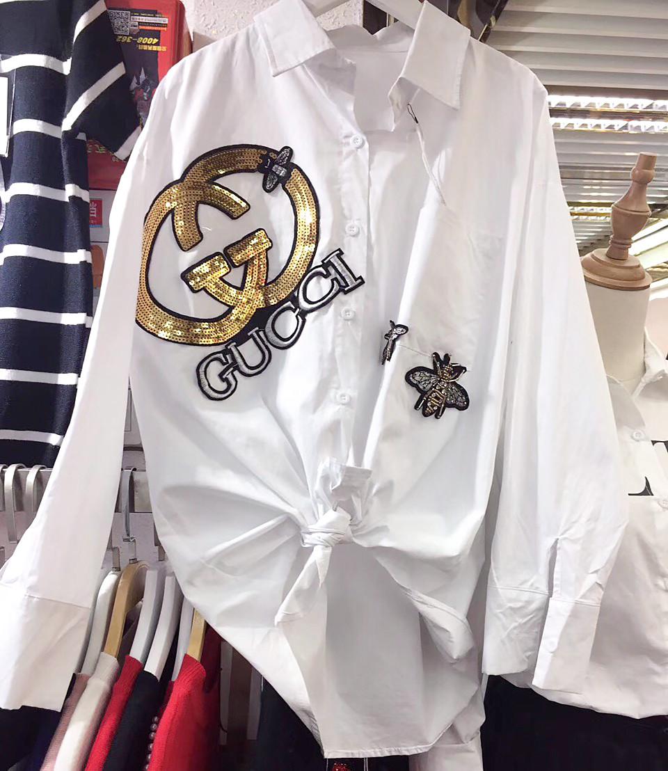 Стильная рубака с украшением (в расцветках 46-50)