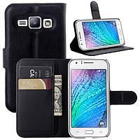 Чехол-книжка Litchie Wallet для Samsung J100 Galaxy J1 Черный