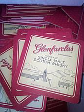 Подставки под стаканы, бокалы, чашки. Костеры, Плейсметы с печатью Glenfarclas. Двухсторонняя печать, фото 2