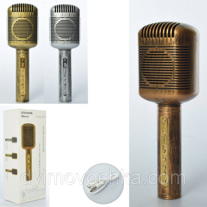Игрушечный микрофон X15124, 21 см, с аккумулятором, MP3, USB зарядное, 2 цвета