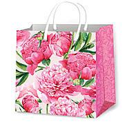 Пакеты для подарков цветочные размер 24 х 24 см (12 шт/уп)