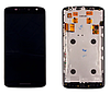 Дисплей (екран) для Motorola XT1561 Moto X Play/XT1562//XT1563/XT1564 + тачскрін, чорний, з передньою панеллю