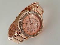 Часы женские Michael Kors кристалл, цвет розовое золото, фото 1