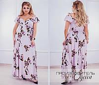 Длинное женское платье Батал Орхидея, фото 1