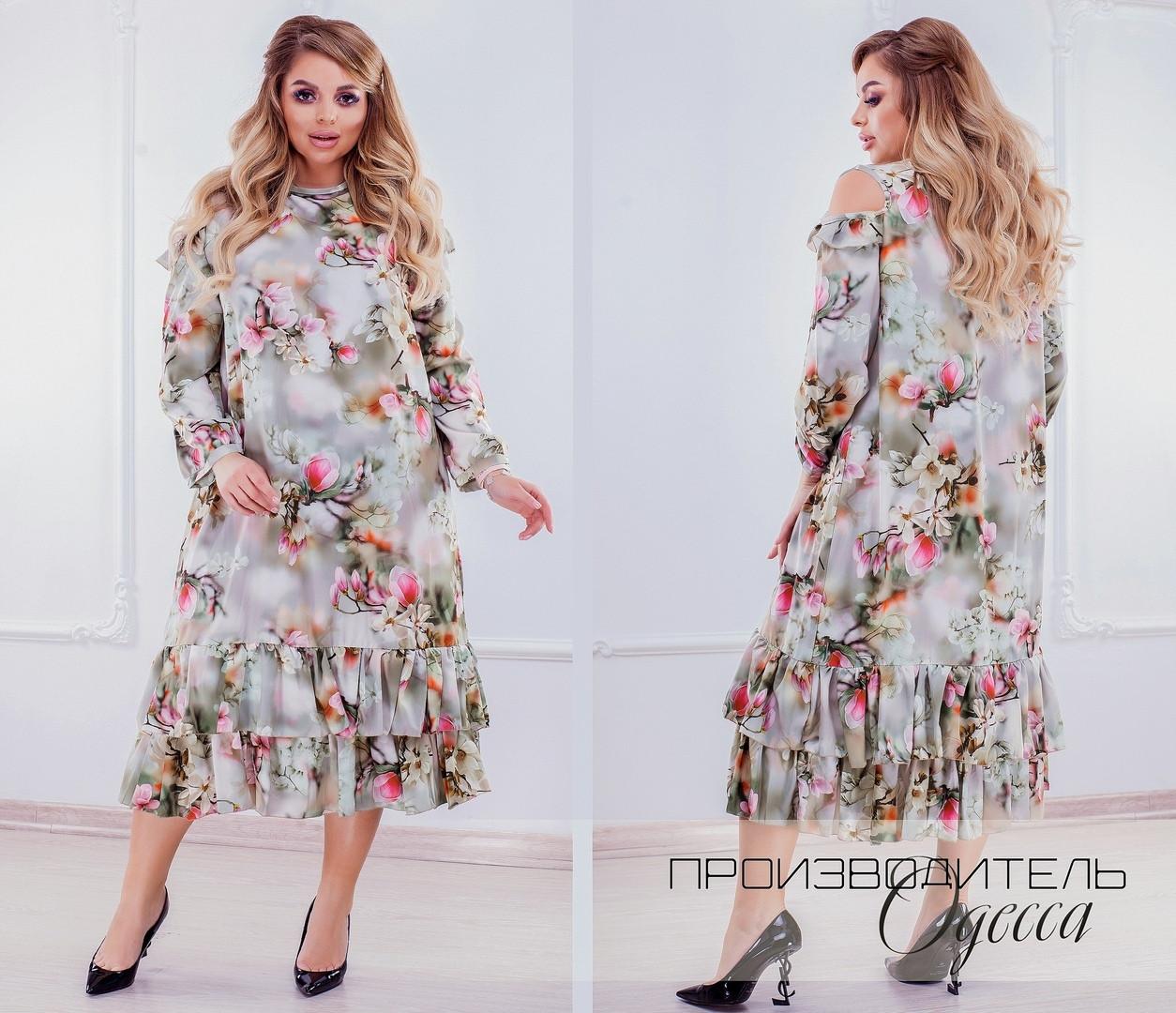 Красивое платье Батал BI