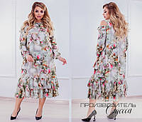 Красивое платье Батал BI, фото 1