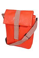 """Плечевая сумка для планшета/нетбука LF-1305 до 10,1"""" кожзам, рыжий, плечевой ремень"""