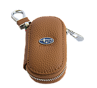Ключница Carss с логотипом SUBARU 21001 коричневая