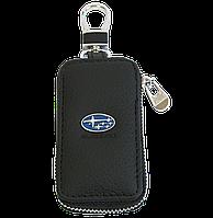 Ключница Carss с логотипом SUBARU 21004 черная