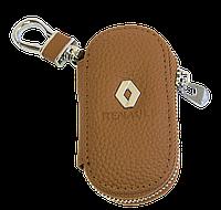 Ключница Carss с логотипом RENAULT 20001 коричневая
