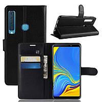 Чехол-книжка Litchie Wallet для Samsung A920 Galaxy A9 2018 Черный