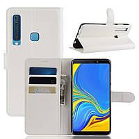 Чехол-книжка Litchie Wallet для Samsung A920 Galaxy A9 2018 Белый