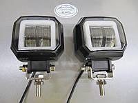 LED фары GV-20WСТГ квадратные, с ДХО - 2шт.- не слепят встречных.
