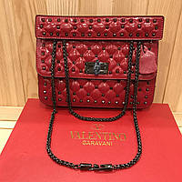 1e725030dfda Женская кожаная сумка Valentino Garavani Rockstud Spike medium