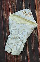 Конверт  двухсторонний с капюшоном для девочек Принцесса, фото 1
