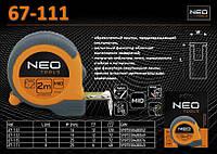 Рулетка с нейлоновой лентой и магнитом 8м х 25мм., NEO 67-111