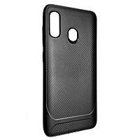 Чехол-накладка DK-Case силикон SGP Carbon для Samsung A20/A30 (black)