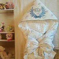 Конверт  двухсторонний с уголком для новорожденных, фото 1