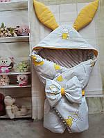 Двухсторонний  конверт- плед для новорожденных Братец  Кролик