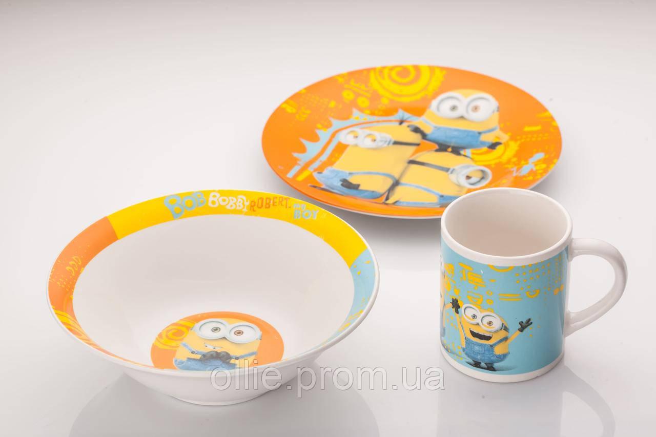 Детский набор посуды миньоны