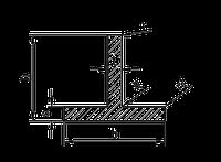 ТАВР | Т ПРОФИЛЬ алюминий Анод, 40х20х2 мм, фото 1