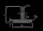 ТАВР | Т ПРОФИЛЬ алюминий Анод,  40x40x3 мм
