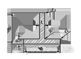 ТАВР | Т ПРОФИЛЬ алюминий Анод, 80х50х2 мм