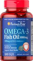Омега-3 рыбий жир 1000 мг (100 капс.) Puritan's Pride