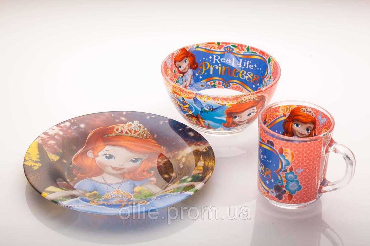 Детская посуда 3 предмета