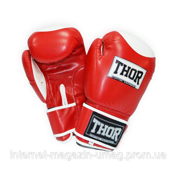 Боксерские перчатки Thor Competition (PU) RED/WHITE 10 oz.