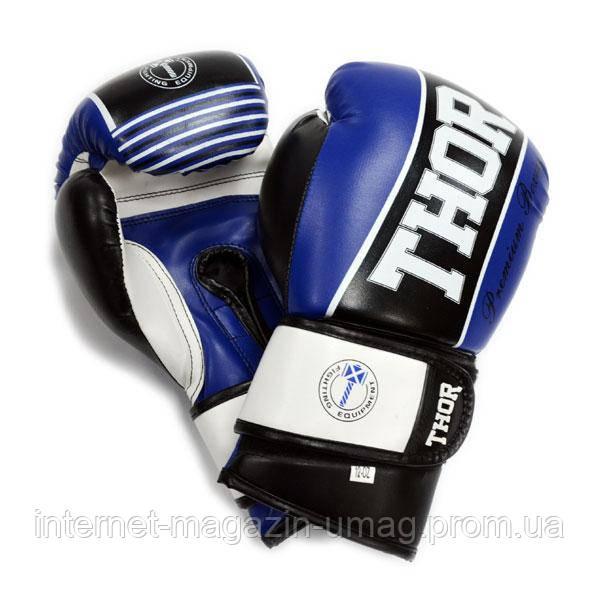 Боксерские перчатки Thor Thunder (PU) BLUE 12 oz.
