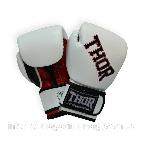 Боксерские перчатки Thor Ring Star (PU)WHITE/RED/BLK 10 oz.