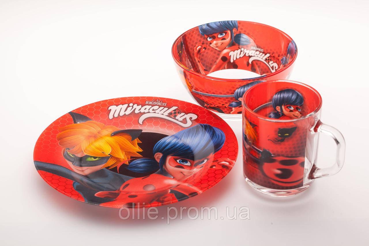 Детский набор столовой посуды миракулус