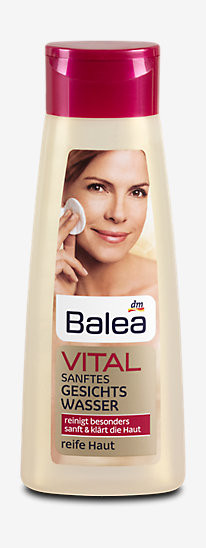 Balea Vital sanftes Gesichtswasser - Нежный тоник для демакияжа зрелой кожи лица 200 мл