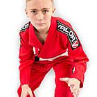 Кимоно детское для бразильского джиу-джитсу Valor Bravura Красное, фото 2