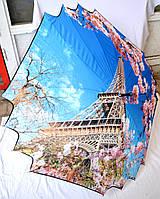 Зонт трость семейный с узором эйфелева башня