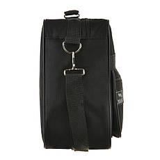 Мужская сумка Wallaby 38х26х13 чёрная 1 отделения 2 кармана материал тканевой на ПВХ основе в 2631, фото 3