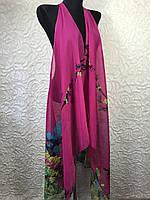Шикарная пляжная накидка в малиновом цвете (цв.36)