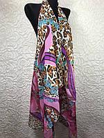 Шифоновая пляжная накидка на леопардовый купальник (цв.32)