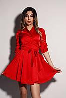 Шелковое платье на запах с юбкой-солнце 20PL2499, фото 1