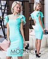 Джинсовое платье с воланами на плечах 53PL2510, фото 1