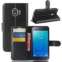 Чехол-книжка Litchie Wallet для Samsung J260 Galaxy J2 Core Черный