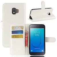 Чехол-книжка Litchie Wallet для Samsung J260 Galaxy J2 Core Белый
