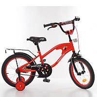 Детский велосипед Profi Traveler Y14181, 14 дюймов, с дополнительными колесами, красный