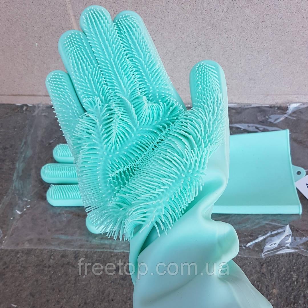 SILICONE MAGIC GLOVES Рукавички для миття посуду універсальні (2 рукавички)