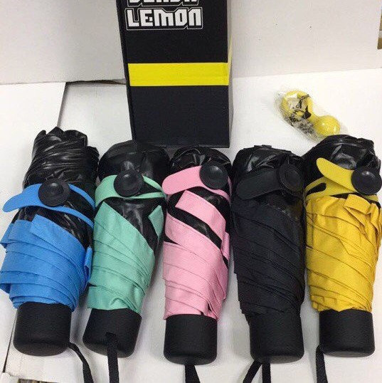 Складаний компактний міні парасолька Black Lemon