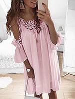 Сарафан с кружевом 42 - 44, 44 - 46 розовый, фото 1