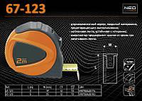 Рулетка с нейлоновой лентой 3м х 19мм., NEO 67-123, фото 1